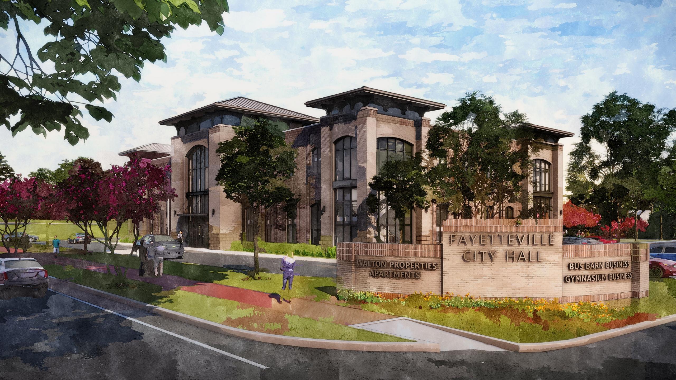 Fayetteville City Hall & Park